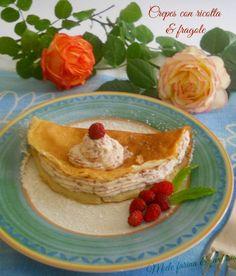 Crepes con crema di ricotta alle fragole. Ricetta senza glutine