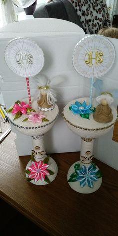 Kielich pamiątka Tiered Cakes, Baby Shower, Angel, Decoration, Party, Diy, First Holy Communion, Eucharist, Crochet Carpet