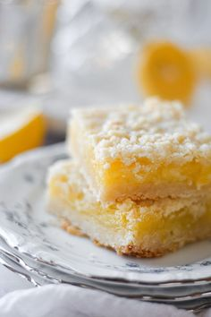These delicious lemon crumb bars have a buttery shortbread base, with a sweet and tart Meyer lemon filling, and crumbly streusel topping.