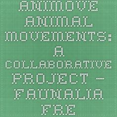 AniMove - Animal Movements: A collaborative project — Faunalia - free and open source GIS Animal Movement, Open Source, Shark, Projects, Free, Animals, Log Projects, Blue Prints, Animales