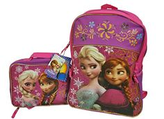 Frozen Backpack with Matching Lunchbox Set Featuring Anna and Elsa   - Click image twice - See a larger selection of little girls backpacks at http://kidsbackpackstore.com/product-category/little-girls-backpack/ - kids, juniors, back to school, kids fashion ideas, school supplies, backpack, bag , teenagers, girls, boys, gift ideas