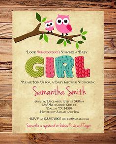 Owl Baby Shower Invitation Baby Shower Invite por StellarDesignsPro, $21.00