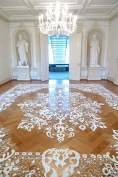 Amazing detailing in these unique installation pieces. Heike Weber Installations