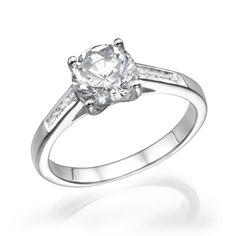 Channel Set Round Diamond Engagement Ring - Available in 13 Coloured Diamond variations at Diamex