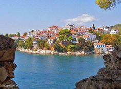 Skiathos, Greece  First island I ever went to 22 years ago.  Very lush island, I remember we had to walk everywhere