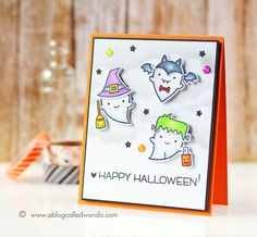 Lawn Fawn - Booyah _ Halloween card by Wanda at A Blog Called Wanda