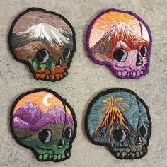 Embroidered Skull Patches by Atomic Bubonic on... |