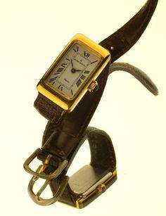 Michel Herbelin 18k Gold , case 15mm x 27mm + Crown