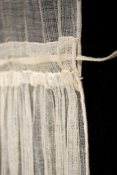 Sheer cotton gauze dress, ca. 1815-20