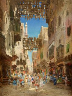 Oriental Bazaar - Godefroy de Hagemann  19th century