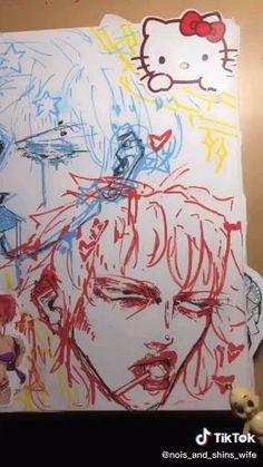 Art Drawings Sketches Simple, Cute Drawings, Pretty Art, Cute Art, Sketchbook Tour, Wow Art, Cartoon Art Styles, Art Reference Poses, Sketchbooks