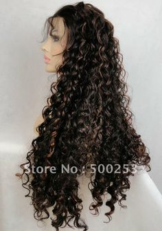 $129 Curly Full Lace Front Wig #4-30 26 inches!!