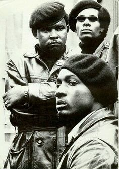 Black Panthers in Defermery Park Bobby Hutton Memorial Park), Oakland, California. (1968)