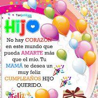 Happy Birthday In Spanish, Happy Birthday Video, Birthday Cheers, Happy Birthday Pictures, Birthday Quotes, Birthday Cards For Son, Happy Birthday Wishes Cards, Happy New Year Greetings, I Love My Son