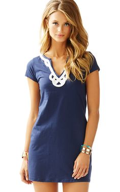 Simple, causual yet cute!Brewster TShirt Dress Lily Pulitzer