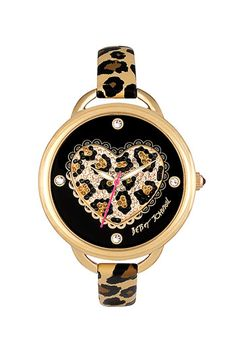 Betsey Johnson Heart Dial Leather Strap Watch available at #Nordstrom....i need this.