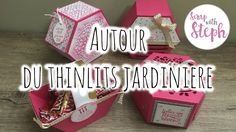 [Tutoriel n°12] : 3 boîtes ❀ | Scrap with Steph Stampinup, Projects To Try, Confetti, Gift Wrapping, Cards, Paper Boxes, Succulents, Cardboard Paper, Scrapbook Box
