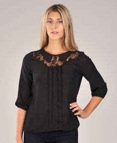 Morgan Lace Blouse – Fun, flirty, and still professional. This blouse is the perfect versatile top for work or play.