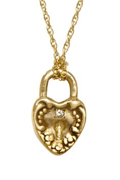 This is just the sweetest heart lock with diamond pendant....