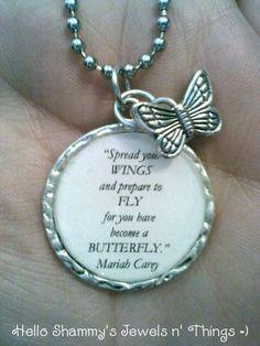New! Mariah Carey Lyrics Necklace. BUTTERFLY by HelloShammys. These are the lyrics I want tattooed