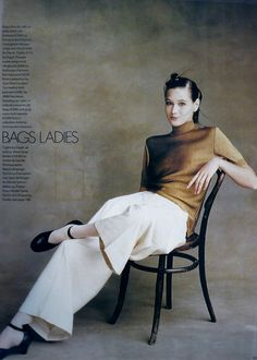 Knit and pants, both by CdG | Photography by Martin Brading | For Elle Magazine UK | May 1988