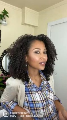 Natural Curls, Natural Hair Styles, Curled Hairstyles, Curly, Women, Fashion, Moda, Fashion Styles, Naturally Curly Hair