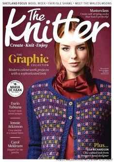 The Knitter - Issue 132 Digital Magazine from Magzter - World's Largest Digital Newsstand Knitting Books, Knitting Stitches, Knitting Patterns Free, Knit Patterns, Free Knitting, Sweater Patterns, Stitch Patterns, Knitting Magazine, Crochet Magazine