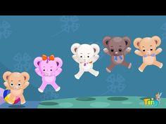 Five Little Teddy Bears - Kids nursery rhyme Kids Nursery Rhymes Songs, Kids Songs, Rabbit Jumping, Teddy Bear Nursery, Fairy Tales For Kids, Five Little, 2 Movie, Educational Videos, Teddy Bears