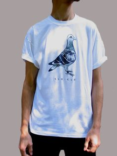 Pigeon T-Shirt Pigeon Tee Pigeon Top Indie Shirt Line by SloClo