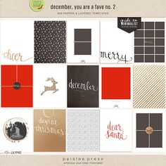 December, You Are My Fave No. 2 | Set of 6x8 Designs perfect for building a custom Document Your December/December Daily Album by paislee press