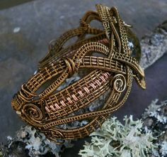 Stunning wrap/weave created with vintage bronze and antique copper ...