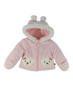 Pink Bear Zip-Up Jacket by Wippette on #zulilyUK today!