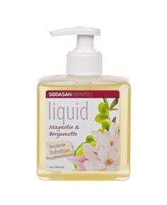 sodasan-bio-folyekony-szappan-pumpas-magnolia-bergamott Magnolia, Soap, Personal Care, Bottle, Magnolias, Personal Hygiene, Flask, Soaps, Jars