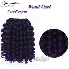 Crochet Braid Fluffy Wand Curl Jumpy Jamaican Bounce Twist Braiding Hair Extension Protective Style Bob African Women Purple