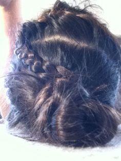 Super cute plait and bun hair style!