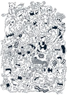 1000 images about doodle art monsters on pinterest for Doodle art monster