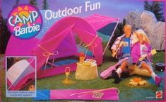 Camp Barbie Outdoor Fun Playset w Tent, Sleeping Bag & More! (1993 Arcotoys, Mattel) by Arcotoys/ Mattel. $189.99
