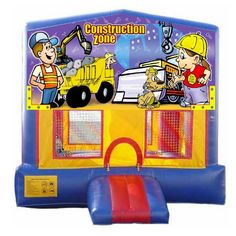 We added a few new banners to increase the number of themes you can make the bounce house! Check out this adorable construction themed Bouncer! This unit rents for only $170 for 1-6 hours!
