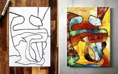 I Collaborate With My 3-Year-Old To Create Modern Art | Bored Panda