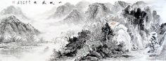Have a Nice Trip Landscape Abstract art Chinese Ink Brush Painting, 180*70cm Chinese wall scroll painting Freehand brush work Artist original works of handwriting Rice paper Traditional art painting. USD $ 260.00