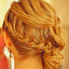 braided sidedo hairstyles pintrest | Loosely braided side do | Wedding Ideas