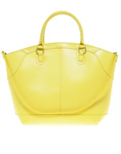 Oh I do want a big, smooth leather yellow bag like this so much. ASOS Leather Bucket Tote Bag