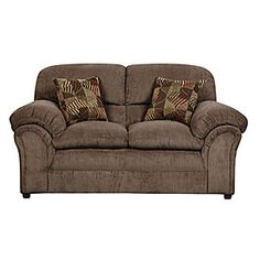 Simmons 174 Sunflower Brown Sofa With Reversible Chaise At