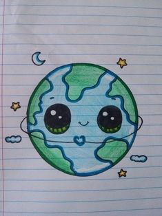 """From 'Draw So Cute' The Earth – Aus """"Draw So Cute"""" The Earth – # # The post Aus """"Draw So Cute"""" The Earth – # # … appeared first on Frisuren Tips - People Drawing Aus Cute Disney Drawings, Cute Easy Drawings, Cute Kawaii Drawings, Cool Art Drawings, Pencil Art Drawings, Art Drawings Sketches, Kawaii Art, Doodle Drawings, Cute Drawings Tumblr"""