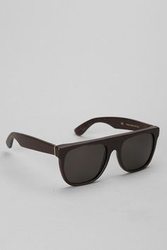 SUPER Flat-Top Leather Sunglasses #UrbanOutfitters