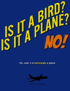 No, wait, it is *technically* a plane.