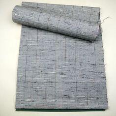 Gray, wool tanmono kimono cloth / 杢グレー地の着尺地反物 http://www.rakuten.co.jp/aiyama #Kimono #Japan #aiyamamotoya