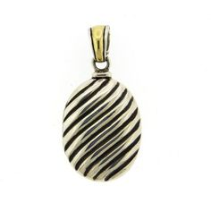 David Yurman 18K Gold Sterling Silver Cable Locket Pendant Featured in our upcoming auction on August 18!