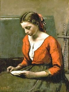 Jean-Baptiste-Camille Corot A Girl Reading