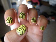 water polo ball nails